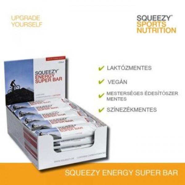 SQUEEZY ENERGY SUPER BAR energiaszelet koffeinnel /Pár db maradt csak/