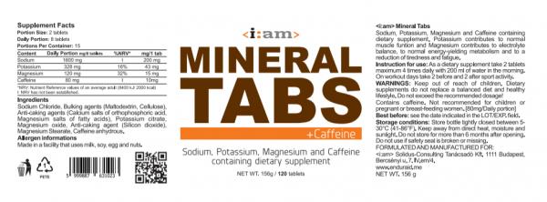 i:am MINERAL TABS sótabletta + Caffeine